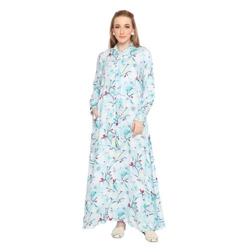 Foto Produk HOMEWEAR ORIANA DASTER BUSUI PANJANG SAFIRA BLUE - S dari Oriana Homewear