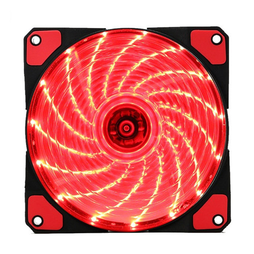 Foto Produk FAN CASING 12CM WITH LED / FAN CASE 12 CM COLORS LAMPU - Merah dari VN STORE ONLINE