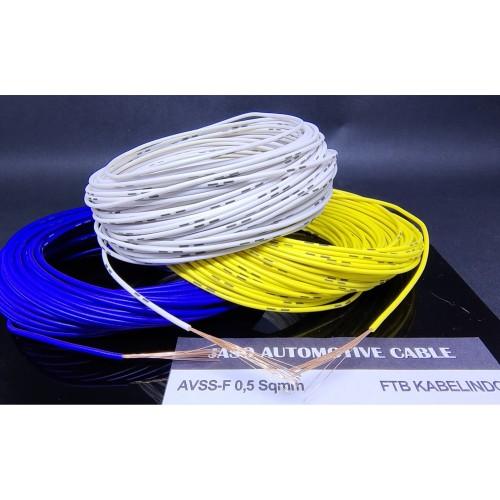 Foto Produk Automotive Cable Kabel Otomotif AVSS 0.5mm AVSS 0.5 mm AVSS 0,5 mm 20M - Putih dari FTB