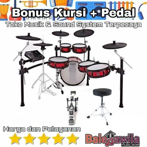 Foto Produk Drum Elektrik Alesis Strike Pro Special Editon Bonus Kursi + Pedal Ori dari TIPTOP MUSIK&SOUNDSYSTEM