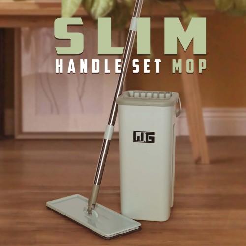 Foto Produk WNG Slim Mop / Alat Pel Lantai Praktis Dengan Ember 2 Sekat CuciKering - Tosca dari MitraBotol