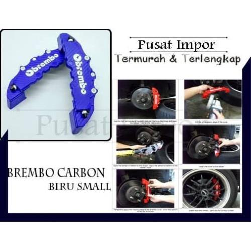 Foto Produk COVER REM DISK BRAKE BREMBO BIRU CARBON SMALL BREMBO KARBON KECIL dari Pusat Impor