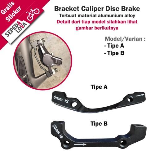 Foto Produk Adaptor Caliper Disc Brake Dudukan Bracket Rem Cakram Rotor Sepeda - Tipe A dari SepedaLova