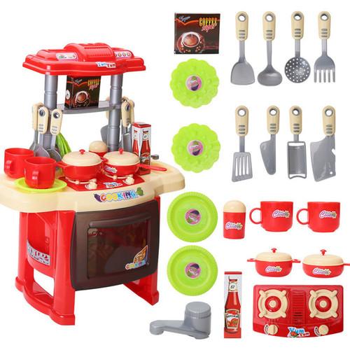 Foto Produk Mini Kitchen Set Chef 1800-20 Mainan Masak - Merah dari Mmtoys Indonesia