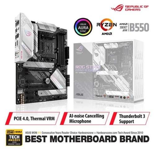 Foto Produk ASUS ROG Strix B550-A Gaming AMD AM4 B550 ATX Gaming Motherboard dari Asus Component