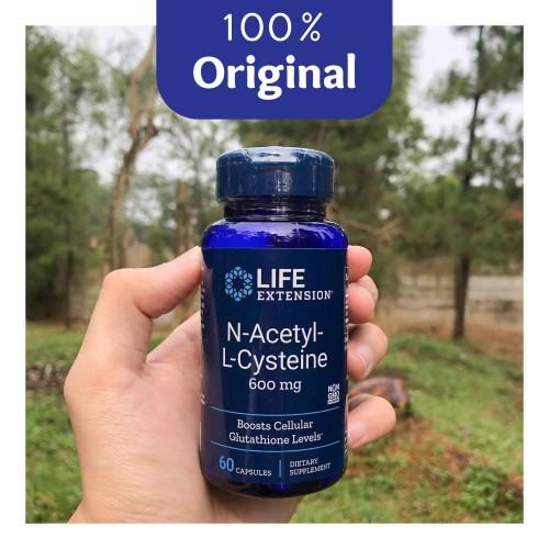 Foto Produk NAC Life Extension 60 Kapsul @600mg - Vegetarian Capsule - Original dari Soho Nootropics