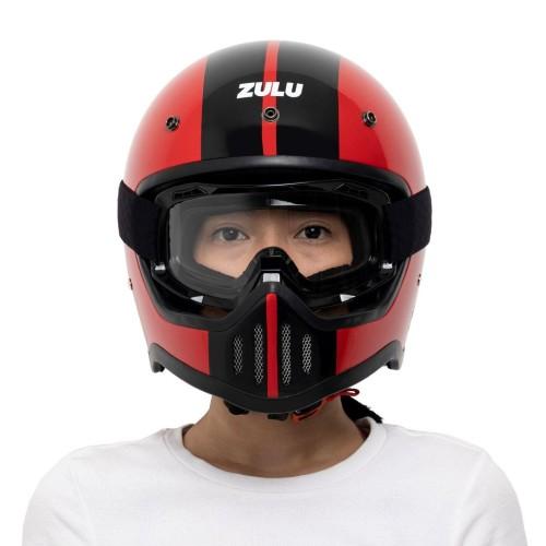 Foto Produk HELM ZULU VIPER RED SR1 FULLFACE PLUS GOGGLES - XL dari ZULU Official