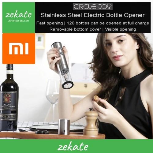 Foto Produk Xiaomi Circle Joy Round Stainless Steel Electric Wine Opener -EKPQ01 dari zekate