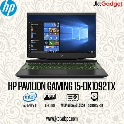 Foto Produk HP PAVILION GAMING 15-DK1092TX Intel i7-10750H 16GB 512GB GTX1650 4GB dari BSB ID