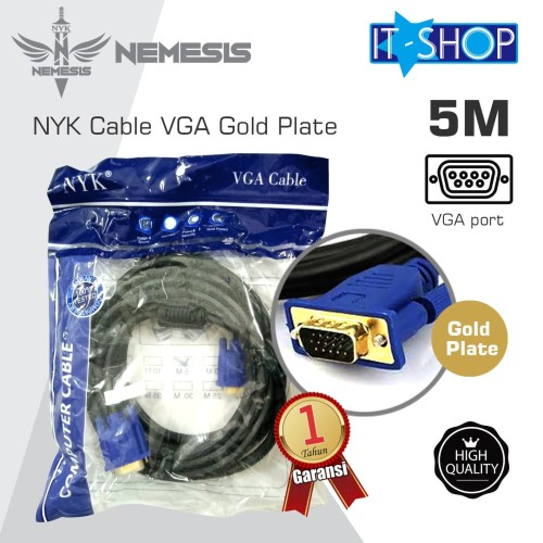 Foto Produk NYK Cable VGA Gold Plate 5M dari IT-SHOP-ONLINE