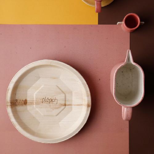 Foto Produk Piring Makan Ramah Lingkungan Eco Friendly Disposable Plate 23 cm - Satuan dari Plepah