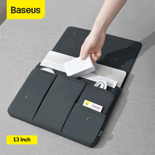 Foto Produk BASEUS BASIC SERIES TAS LAPTOP BAG TAS MACBOOK NOTEBOOK - Gray 13inch dari Baseus Official Store