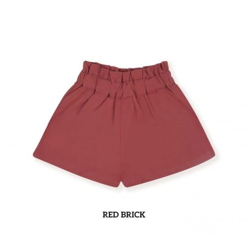 Foto Produk LITTLE PALMERHAUS Girl Casual Short - Celana Pendek Anak (RED BRICK) - 1 tahun dari Lemari Anak