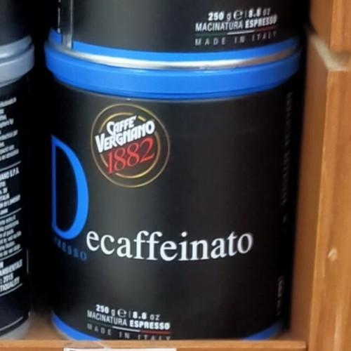Foto Produk Cafe Vergnano Decaffeinated coffe 250gr kopi dari zamzam-shop