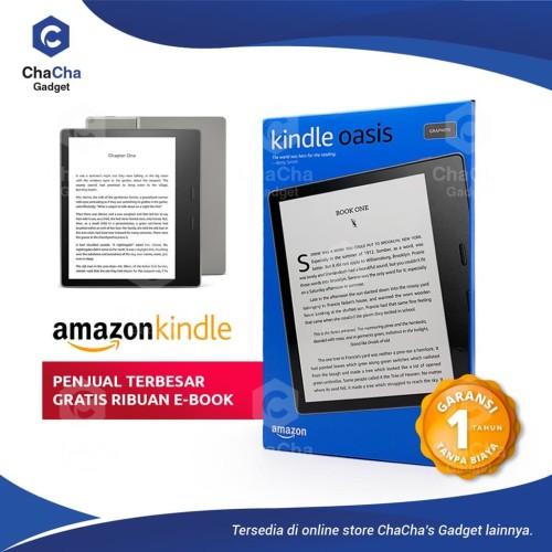 Foto Produk Amazon Kindle Oasis Warm Light eBook WIFI 8GB No Ads Graphite dari ChaCha's Gadget