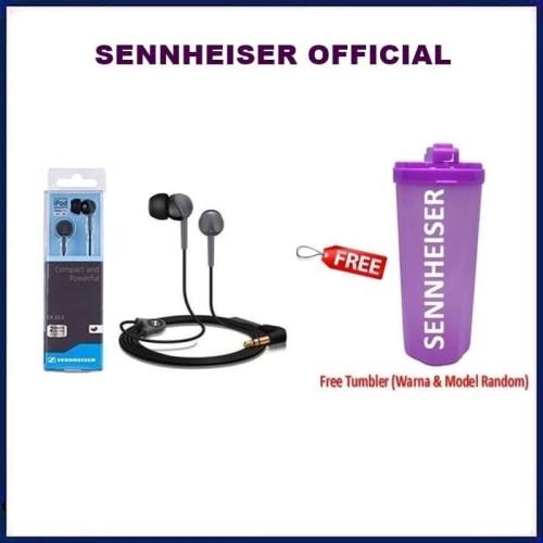 Foto Produk Sennheiser CX213 : Stereo Earphone CX 213 / Handsfree / senheiser - Hitam dari Official Brands