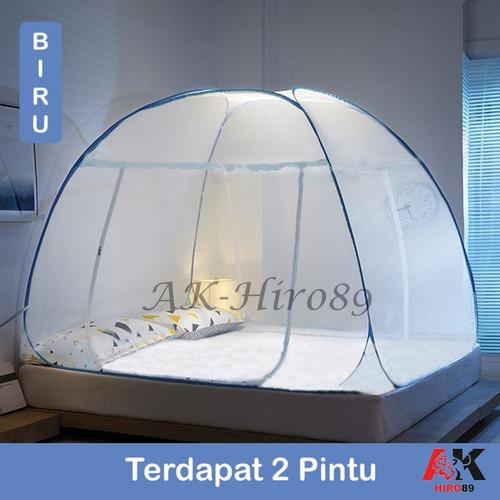 Foto Produk Kelambu Tenda Tidur Anti Nyamuk Dengan Alas dan Tanpa Alas Uk 180x200 - Dua Pintu dari AK-Hiro89