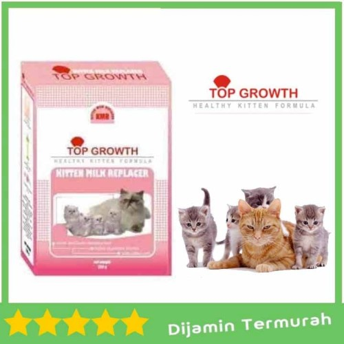 Foto Produk Top Growth Kitten Milk Replacer 250 gr KMR susu kucing 250gr freshpack dari AL Petshop Kemang