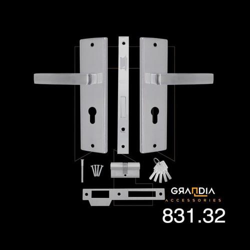 Foto Produk Gagang Pintu Set / Handle Pintu Set Grandia Kotak / Door Handle - M dari Arga Anggala Sentosa