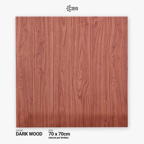 Foto Produk [CSG.ID] Wallpaper 3D TITAN 6mm 70X70 -Motif Kayu & Polos- - DARK WOOD dari Carpet Shop Indonesia