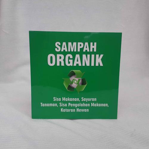 Foto Produk Stiker Sampah Infeksius / non Infeksius / Organik versi Chromo - Organik dari Syafana