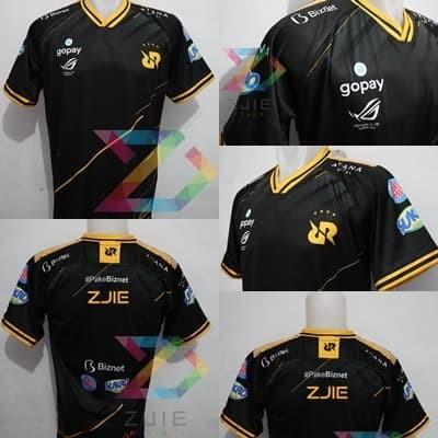 Foto Produk Jersey Kaos Baju Gaming RRQ 2020 BLACK ML, AOV,PB, PUBG Free Nick - S dari zJieShop