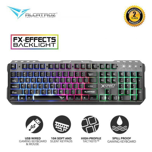 Foto Produk Alcatroz Gaming Keyboard XKB-300 Spill Proof with 9 Backlight Effect - XKB-300 dari Alcatroz Official Store