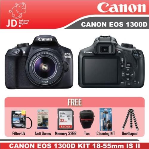 Foto Produk CANON EOS 1300D KIT 18-55MM IS II PAKET KOMPLIT MURAH dari Jakarta Digital
