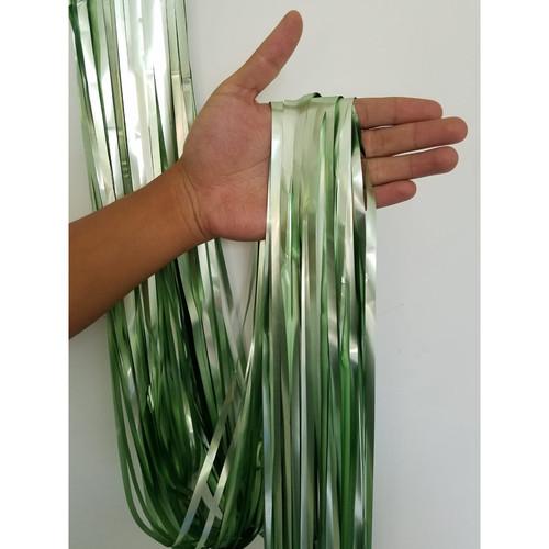 Foto Produk Tirai Foil Doff / Chrome / Rumbai Foil - Light Green dari Pabrik Metalik