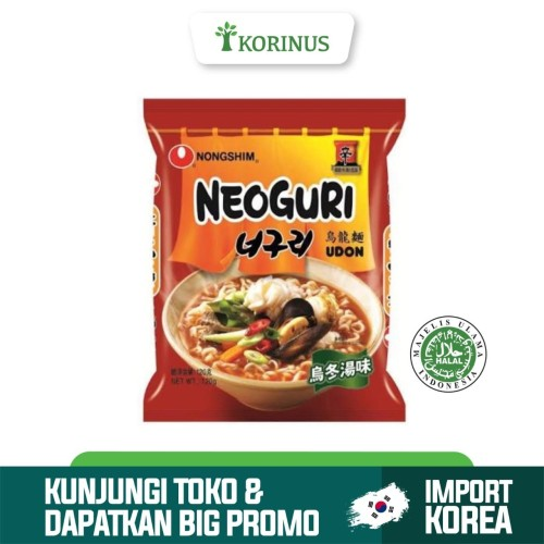 Foto Produk Nongshim Neoguri Udon 120gr / Mie Instan Korea Halal / Neoguri Spicy U dari KORINUS