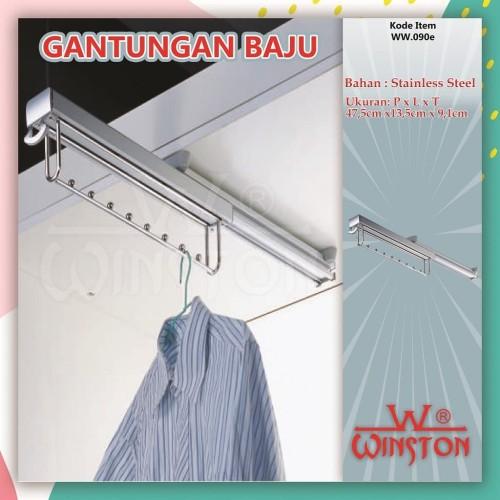 Foto Produk Gantungan Baju Celana Tarik Winston WW 90 E CR Rak Pakaian Tarik dari WINSTON SUKSES ABADI