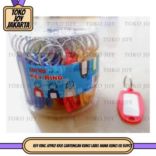 Foto Produk Key Ring JOYKO KR8 gantungan kunci Label Nama Kunci isi 50pcs dari Toko Joy Jakarta