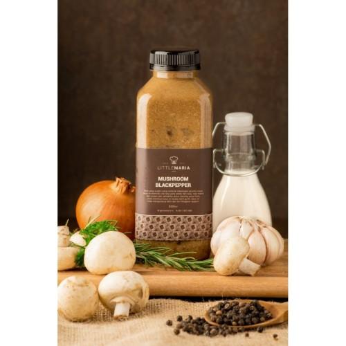 Foto Produk LittleMaria Mushroom Blackpepper Sauce - 500gr dari Little Maria Surabaya