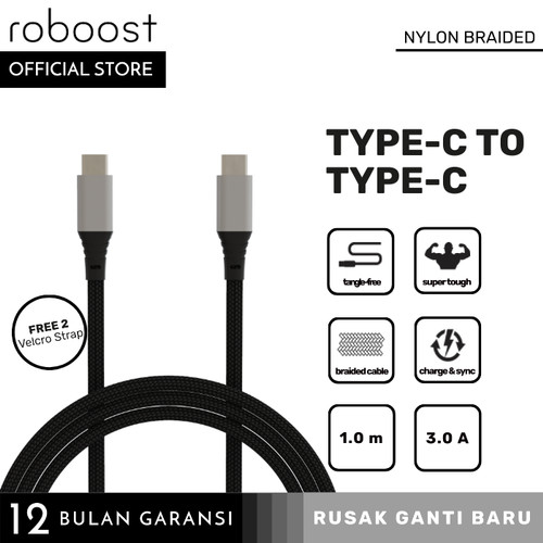 Foto Produk roboost USB Type C to C 3.1 Version Super Fast Charging 75W dari roboost Official Store