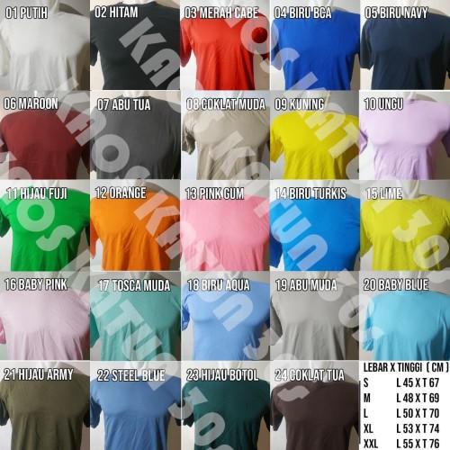 Foto Produk Kaos Katun 30s, Kaos Oblong Polos, Cotton Shirt - S dari kaos katun 30s