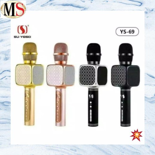 Foto Produk Mic karaoke bluetooth yosu YS69 / Microphone bluetooth karaoke / Mix Y - Kuning dari MS Official