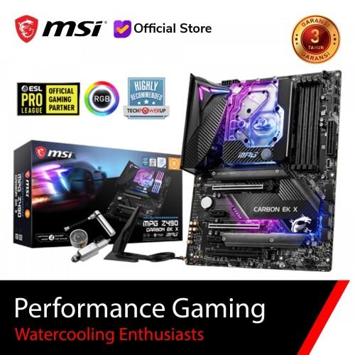 Foto Produk MSI MPG Z490 CARBON EK X [ATX | LGA 1200 | Gen 10] dari MSI Shop ID