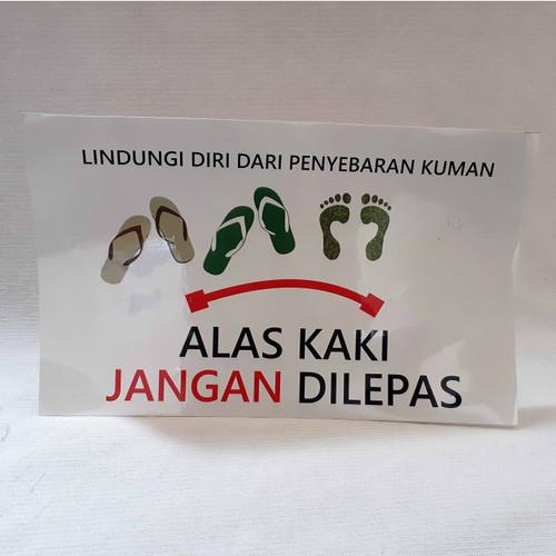 Foto Produk Stiker Alas Kaki Jangan Dilepas / Harus Dilepas dari Syafana