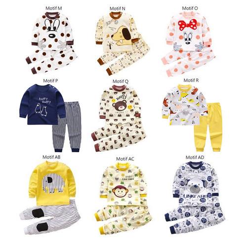 Foto Produk Setelan Bayi / Setelan Panjang Bayi / Baju Bayi / Kaos Bayi Lucu - MOTIF P dari M&K ( Mom & Kids)