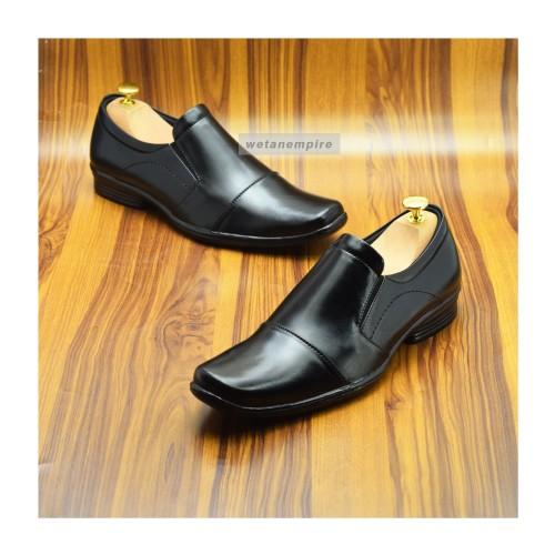 Foto Produk Sepatu Pantofel Kerja Pria Kulit Big Size 44,45,46 utk formal dn pesta - Hitam, 47 dari WETAN Store