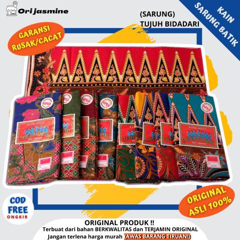 Foto Produk Kain Sarung batik wanita tujuh bidadari / batik halus 7 bidadari kain dari ori jasmine hijab store