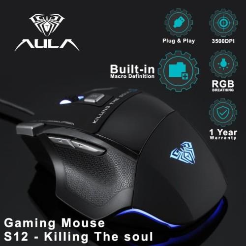 Foto Produk Mouse Gaming AULA Killing The Soul Type S 928s RGB Macro dari Aula Official Store