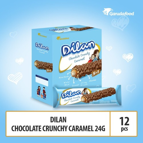 Foto Produk Dilan Chocolate Crunchy Caramel - 24g (DILAN5) By Garudafood dari GarudaFood