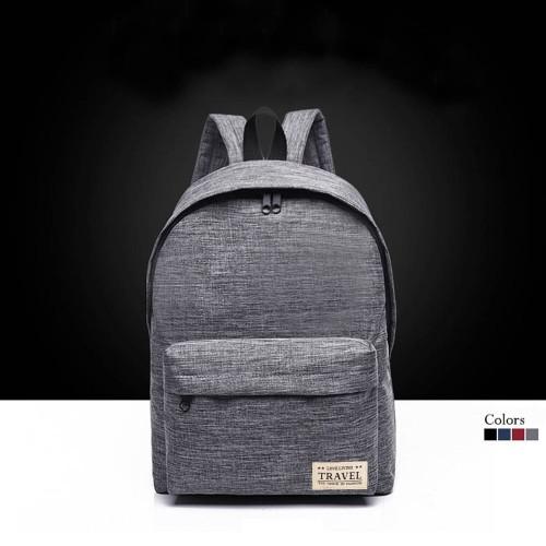Foto Produk ARAMI Stylish Canvas Travel Backpack | Tas Ransel Kerja Pria Wanita - Merah dari Arami Lifestyle
