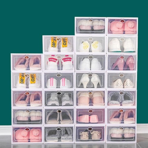Foto Produk DIY Tempat Penyimpanan Kotak Sepatu/Box Sepatu Frame - Putih, L dari Alimajur store