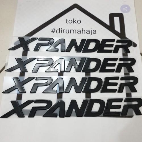 Foto Produk emblem kap mesin xpander black embose dari toko#dirumahaja