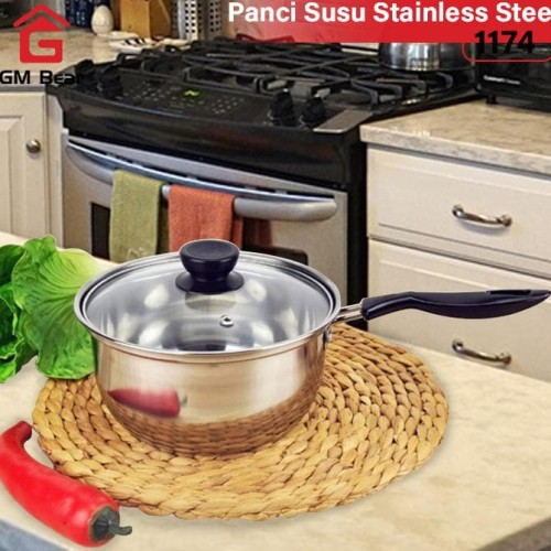 Foto Produk GM Bear Panci Susu Stainless Steel-Milk Pan dari asro_MART