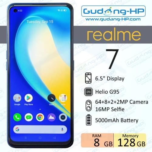 Foto Produk Realme 7 8/128 GB Garansi Resmi - Biru dari Gudang-HP