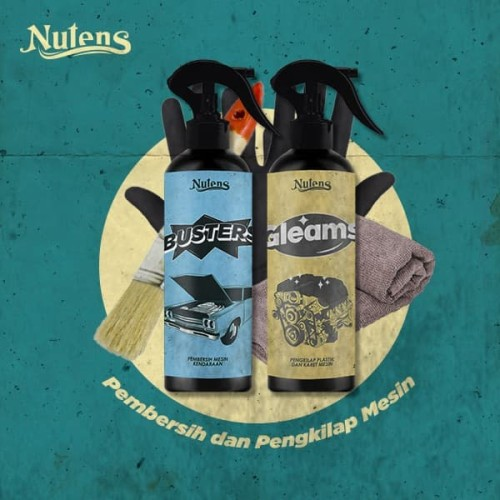 Foto Produk Nutens Busters & Gleams - Paket Pembersih Noda Mesin Mobil dan Motor dari Nutens.id