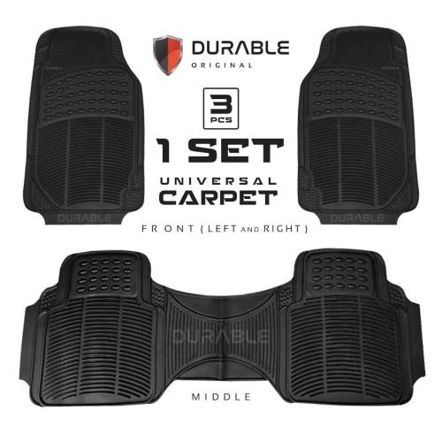 Foto Produk Karpet Mobil Durable PVC 3pcs Universal HRV Brio CRV BRV New Jazz City - BLACK dari TDC Variasi